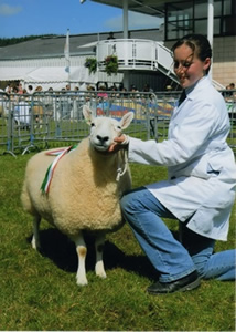 Liz competing at an agricultural show.